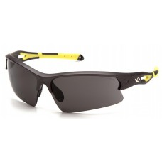 Pyramex Monteagle VGSGMV1620T Safety Glasses Gray Anti-Fog Lens with Gun Metal/Hi-vis Yellow Frame
