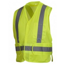 Pyramex RCA2510SE Hi Vis Lime/Yellow Safety Vest, Self Extinguishing, Type R - Class 2, With Reflective Tape
