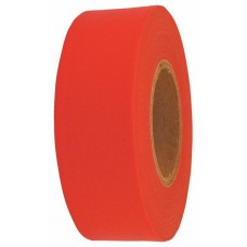 "Flagging Tape - 1-3/16"" x 300' - Fluorescent Red - 12 Rolls"