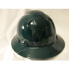 Pyramex Ridgeline Green Gloss Carbon Fiber Pattern Hard Hat - Full Brim - 4Pt Ratchet Suspension - (CLOSEOUT - LIMITED STOCK AVAILABLE)