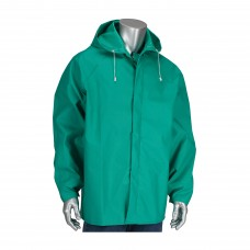 PIP 205-420JH ChemFR Treated PVC Jacket with Hood - 0.42 mm