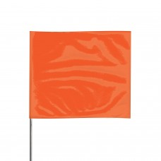 "Presco 2321 Stake Flag, 2"" x 3"" x 21"" - Orange Glow - 100 / Pack"
