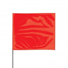 "Presco 2321 Stake Flag, 2"" x 3"" x 21"" - Red - 100 / Pack"