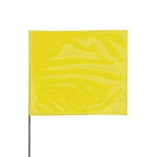 "Presco 2321 Stake Flag, 2"" x 3"" x 21"" - Yellow - 100 / Pack"