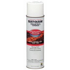 Rust-Oleum M1400 Industrial Choice Construction Marking Paint - White - 12/Pack