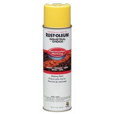 Rust-Oleum M1400 Industrial Choice Construction Marking Paint - Hi Vis Yellow - 12/Pack