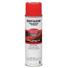 Rust-Oleum M1400 Industrial Choice Construction Marking Paint - Safety Red - 12/Pack