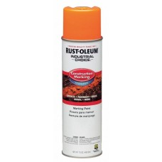 Rust-Oleum M1400 Industrial Choice Construction Marking Paint - Fluorescent Orange - 12/Pack