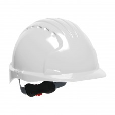 JSP 280-EV6151 Evolution Deluxe 6151 Standard Brim Hard Hat - 6 Pt. Ratchet Suspension - White (CLEARANCE)
