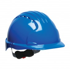 JSP 280-EV6151 Evolution Deluxe 6151 Standard Brim Hard Hat, 6 Pt. Ratchet Suspension, Blue (CLEARANCE)