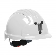 JSP Evolution® 6151 Deluxe Mining Helmet Cap Style, 6 Pt Ratchet Suspension, White, 280-EV6151M-10