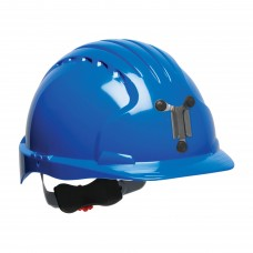 JSP Evolution® 6151 Deluxe Mining Helmet Cap Style, 6 Pt Ratchet Suspension, Blue, 280-EV6151M-50