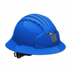 JSP Evolution® 6161 Deluxe Mining Helmet Full Brim Style, 6 Pt Ratchet Suspension, Blue, 280-EV6161M-50