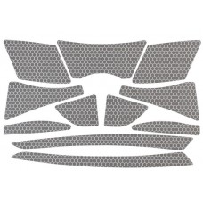 PIP 281-CR2-10 Reflective Sticker Kit - For JSP 6100 Series Evolution Cap Hard Hats - Silver