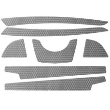 PIP 281-CR2FB-10 Reflective Sticker Kit - For JSP 6100 Series Evolution Full Brim Hard Hats - Silver