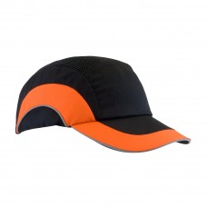 "JSP 282-ABR170-18 HardCap - Black / Hi Vis Orange - 2.75"" Brim"