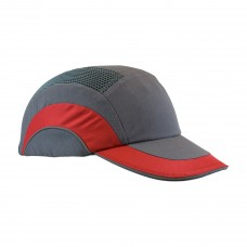 "JSP 282-ABR170-62 HardCap - Gray/ Red - Std 2.75"" Brim"