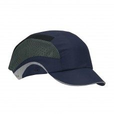 JSP Aerolite HardCap 282-AES150-21 Lightweight Baseball Style Bump Cap with HDPE Protective Liner and Adjustable Back, Navy - Short Brim