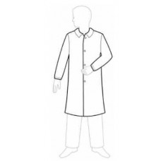 WHITE LAB COAT - SMS - NO POCKETS - KNIT WRISTS - SNAP FRONT - SINGLE COLLAR, 30 / CASE