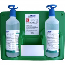 Genuine First Aid Eyewash Station (2) 32oz w/ Eye Opener