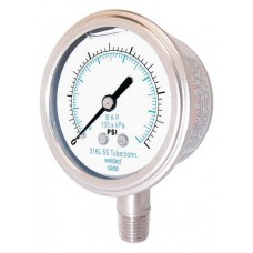 """PIC Gauge 301LFW-254, 2-1/2"""" Dial, Glycerine Filled, 1/4"""" Lower Mount Conn., Stainless Steel Case, 316 Stainless Steel Internals"""