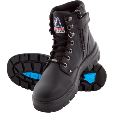 "Steel Blue Argyle Zip 6"" Work Boots, TPU, Steel Toe"