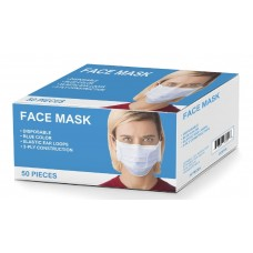 3-Ply Disposable Face Mask - Non-Medical Use - 50/Box - (LIMIT OF 5 BOXES PER CUSTOMER / ADDRESS)