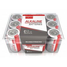 Dayton C-Cell Standard Battery - Alkaline - PK12 - (DISCONTINUED SEE PART # ALC-12PPJ)