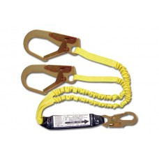 "French Creek 444AS Dual Leg Elastic Shock Absorbing 6' Web Lanyard w/ Pack, 2-1/4"" Opening"