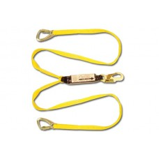 French Creek 446AW Lanchor Dual Leg Double Tuff Shock Absorbing 6' Web Lanyard w/ Pack