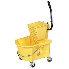 Tough Guy Yellow Plastic Mop Bucket and Wringer, 6.5 gal.