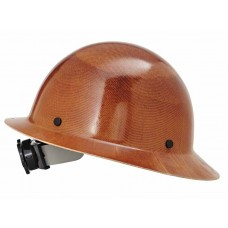 MSA 475407 Skullgard Protective Full Brim Hard Hat, Fas-Trac Ratchet, Natural Tan