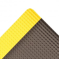 NoTrax 482 Bubble Trax® 3X5 Anti-Fatigue Mat - Black / Yellow