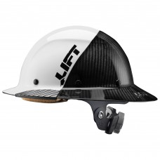 Lift Safety Dax Fifty 50 White / Carbon Fiber Full Brim Hard Hat
