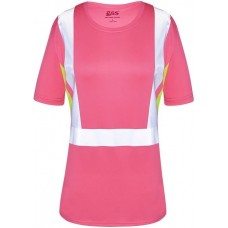 GSS 5126 Hi Vis Pink Ladies Safety T-Shirt - Non-Rated