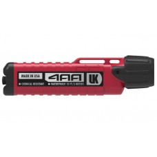 UK Chemical Resistant eLED Flashlight Herculite 4AA eLED Red, Tail Switch