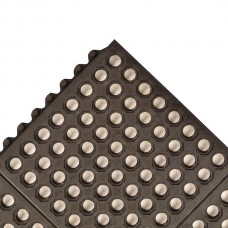 NoTrax 550 Cushion-Ease® 3X3 Anti-Fatigue Mat - Black