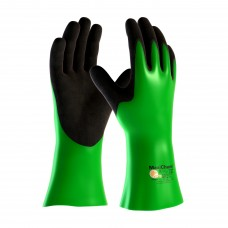 "PIP 56-635 MaxiChem Nitrile Blend Coated Glove with Nylon / Lycra Liner and Non-Slip Grip on Palm & Fingers - 14"" - Pair"