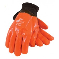 ProCoat 58-7303 Hi-Vis Insulated PVC Dipped Glove with Smooth Finish - Knitwrist - Dozen