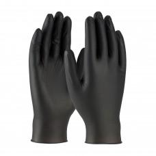 PIP 63-732 Ambi-dex Industrial Grade Disposable Nitrile Glove, Powdered with Textured Grip, Black - 4 Mil, 50 Pairs - (LIMIT 1 BOX PER CUSTOMER / ADDRESS)