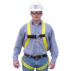 French Creek 651 Full Body Harness with Grommet/Tongue Buckle Leg Straps, No Belt