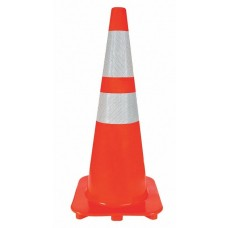 "Reflective Traffic Cone - 28"" - Orange PVC"
