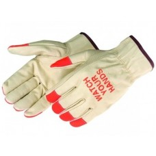 "Liberty 7017FQ Grain Pigskin Driver - Keystone Thumb - ""WATCH YOUR HANDS"" - Pair - (CLOSEOUT)"