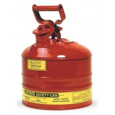 Justrite 7125100 Type 1 Safety Can, 2-1/2 Gal, Red