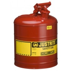 Justrite 7150100 Type I Steel Safety Can for flammables, 5 gallon, Red