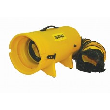 """CH Hanson 83002 WHIRL GEN-2 Light Industrial Ventilator - 8"""" - With Canister & 25' Duct"""