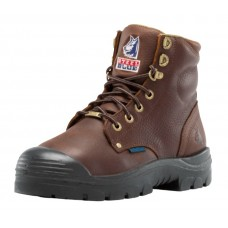 "Steel Blue Argyle Zip 6"" Work Boots - MET Guard - PR Midsole - Bump Cap - Steel Toe"