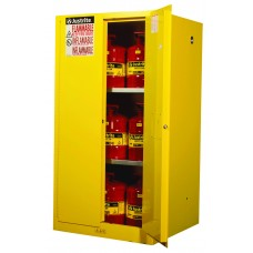 Justrite 896000 Sure-Grip EX Flammable Safety Cabinet - Cap. 60 Gallons - 2 Shelves - 2 Manual-Close Doors - Yellow