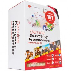 Genuine First Aid 167 Piece Soft Sided Emergency Preparation Kit