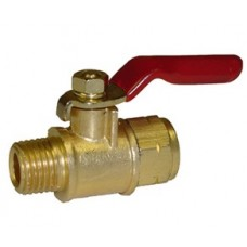 "PIC A15 Brass Mini Ball Valve 1/4"" MNPT x 1/4"" FNPT"